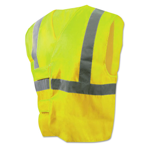 Class 2 Safety Vests, Lime Green/Silver, Standard