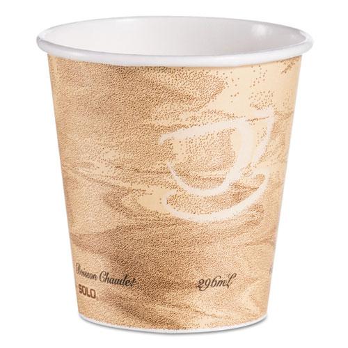 Dart® Mistique Hot Paper Cups, 10 oz, Brown, 1000/Carton