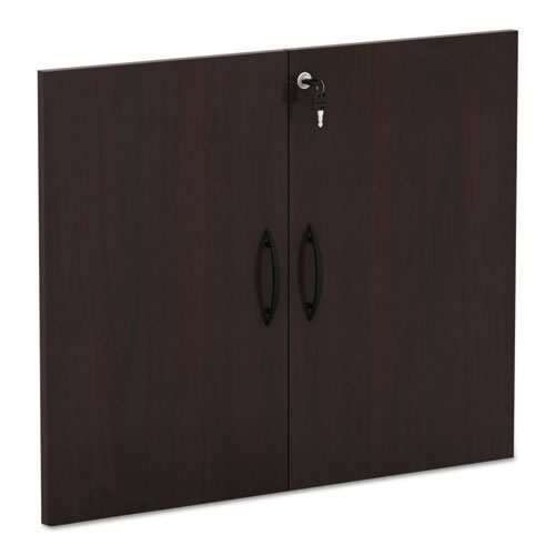 Alera Valencia Series Cabinet Door Kit For All Bookcases, 15.63w x 0.75d x 25.25h, Mahogany | by Plexsupply