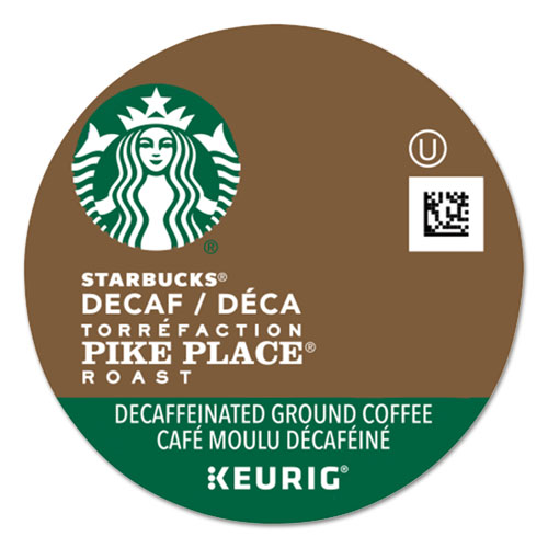 Pike Place Decaf Coffee K-Cups Pack, 24/Box