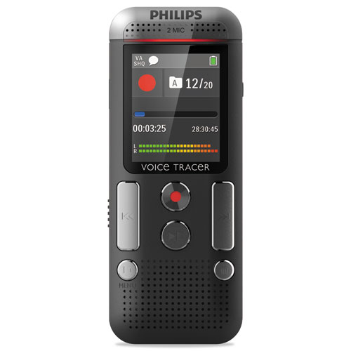 Voice Tracer 2510 Digital Recorder, 8 GB, Black