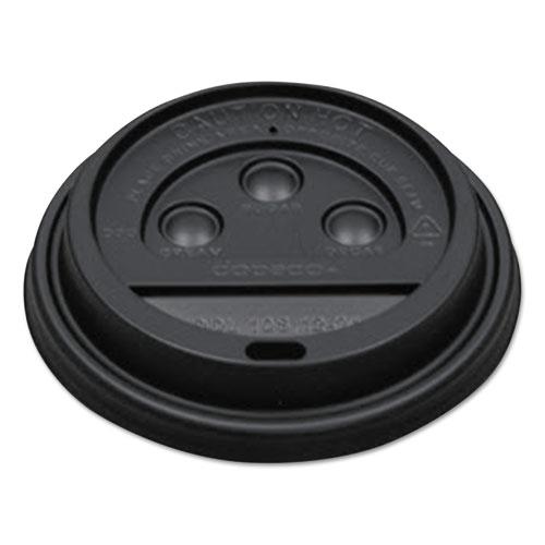 Dopaco® Dome Lids For Squat Paper Cups, Fits 24oz Cups, Black, 1000/CT