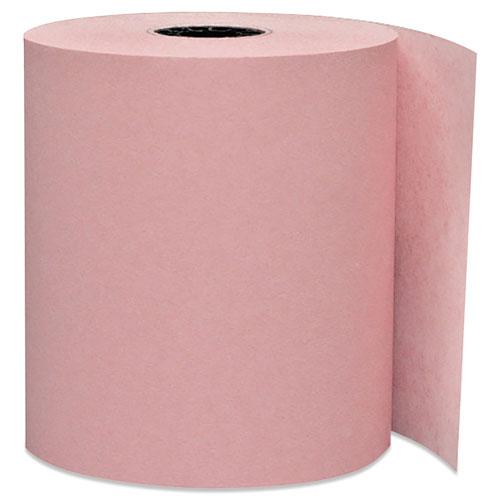 Impact Bond Paper Rolls, 0.45 Core, 3 x 165 ft, Pink, 50/Carton