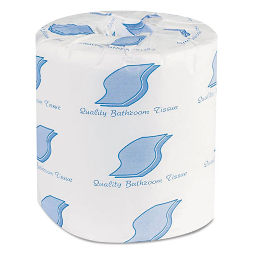 GEN Bathroom Tissues, 2-Ply, White, 500 Sheets/Roll, 96 Rolls/Carton