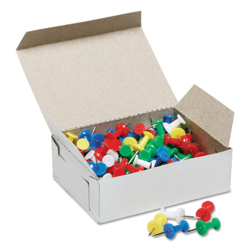 7510012073978 SKILCRAFT Color Push Pins, Plastic, Assorted, 3/8, 100/Box