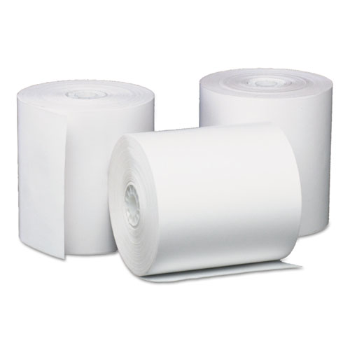 Direct Thermal Printing Paper Rolls, 0.45 Core, 3.13 x 200 ft, White, 50/Carton