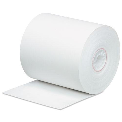 Impact Bond Paper Rolls, 0.45 Core, 3 x 165 ft, White, 50/Carton
