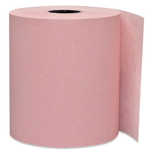 Direct Thermal Printing Paper Rolls, 0.45 Core, 3.13 x 230 ft, Pink, 50/Carton