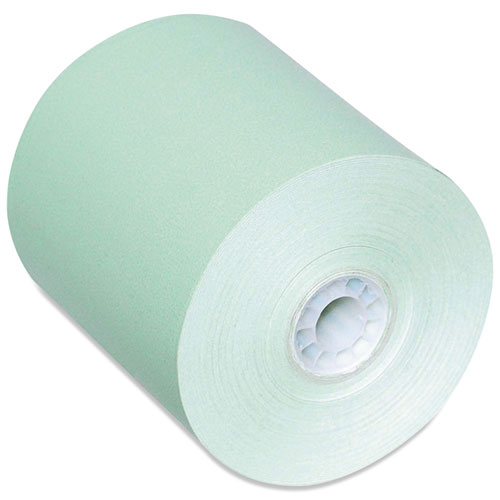 Direct Thermal Printing Paper Rolls, 0.45 Core, 3.13 x 230 ft, Green, 50/Carton
