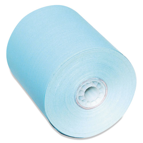 Direct Thermal Printing Paper Rolls, 0.45 Core, 3.13 x 230 ft, Blue, 50/Carton