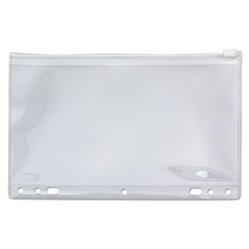 Zip-All Ring Binder Pocket, 6 x 9 1/2, Clear