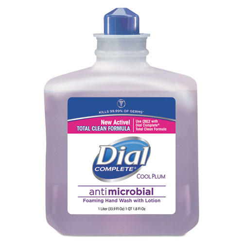 Dial® Professional Antimicrobial Foaming Hand Wash, Cool Plum Scent, 1000mL Bottle