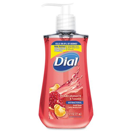Dial® Antibacterial Liquid Soap, 7.5 oz Pump Bottle, Pomegranate and Tangerine