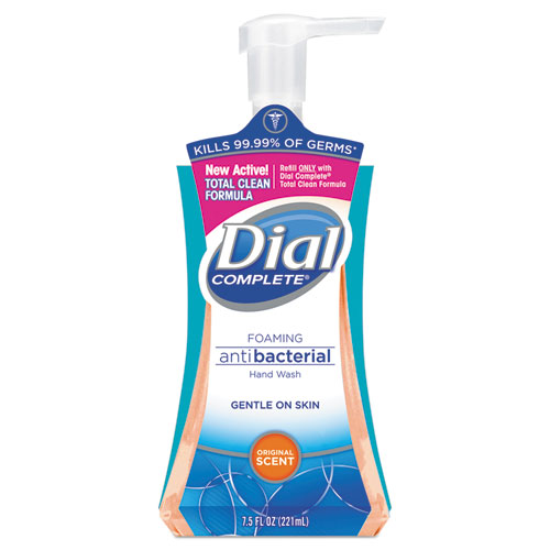 Dial® Antibacterial Foaming Hand Wash, Liquid, Original Scent, 7.5oz Pump Bottle