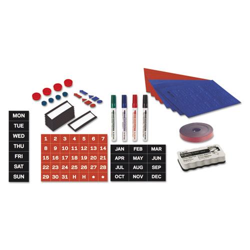 MasterVision® Magnetic Board Accessory Kit, Blue/Red