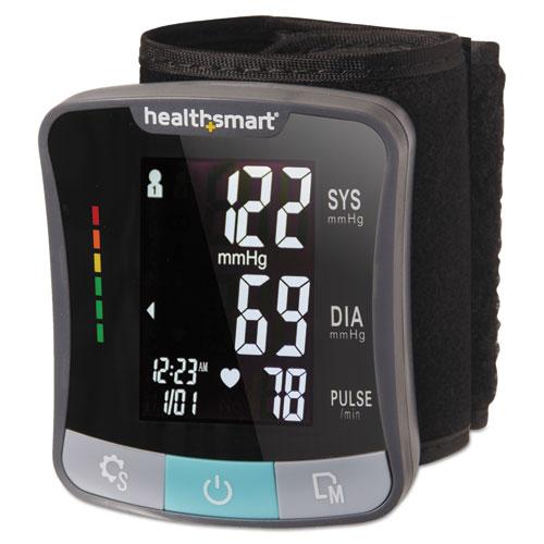 Premium Automatic Wrist Talking Digital Blood Pressure Monitor, Adult, Black