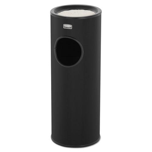 Rubbermaid® Commercial Metallic Series Ash/Trash Waste Receptacle, 3.5 gal, Black