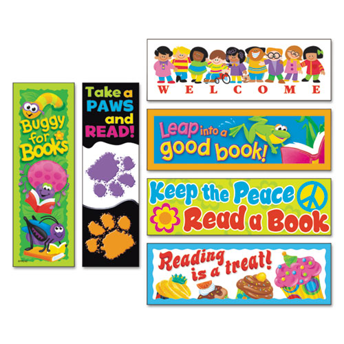 Bookmark Combo Packs, Celebrate Reading Variety 1, 2w x 6h, 216/Pack