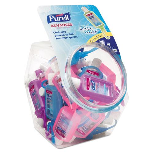 PURELL® Advanced Instant Hand Sanitizer Gel, Lemon Scent, 8 oz Pump Bottle, 4/Pack