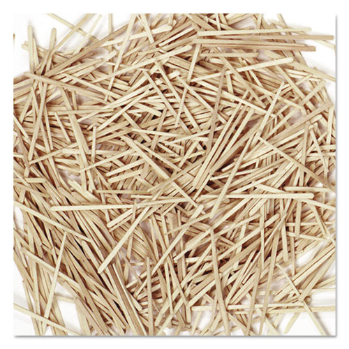 Flat Wood Toothpicks, Wood, Natural, 2,500/Pack | by Plexsupply