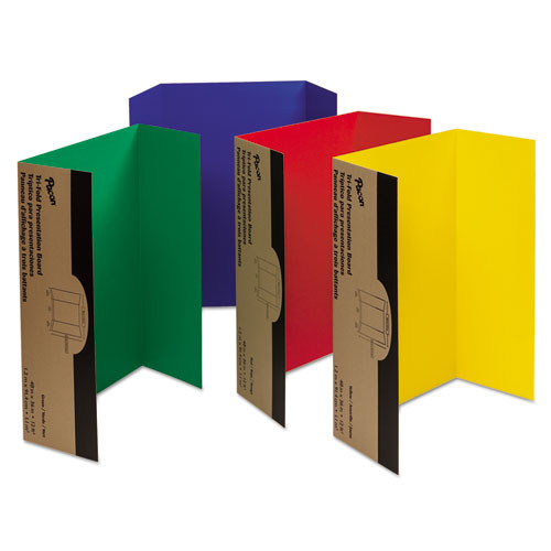 Spotlight Corrugated Presentation Display Boards, 48 x 36, Assorted, 4/Carton | by Plexsupply