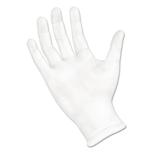 Exam Vinyl Gloves, Powder/Latex-Free, 3 3/5 mil, Clear, Medium, 100/Box
