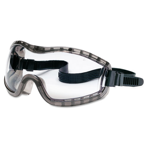 MCR™ Safety Stryker Safety Goggles, Chemical Protection, Black Frame