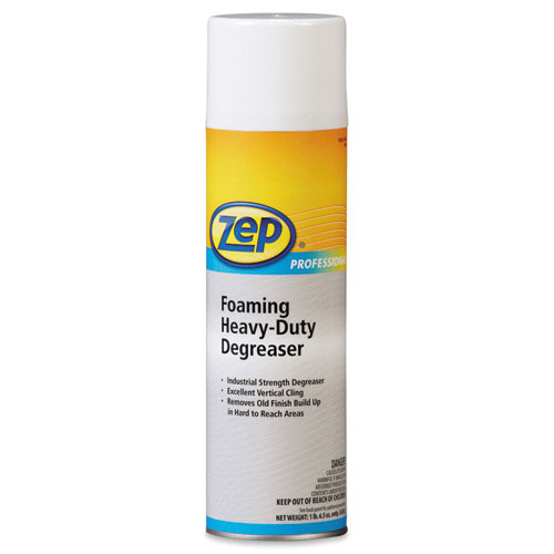 Zep Professional® Foaming Heavy Duty Degreaser, Pine Scent, 20 oz Aerosol Can, 12/Carton