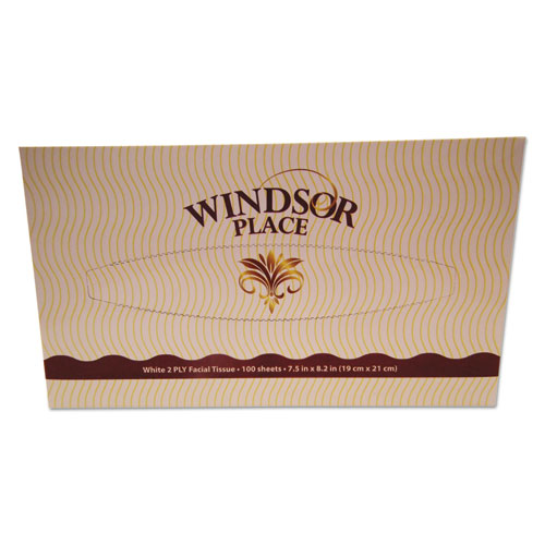 Windsor Place Facial Tissue, 2-Ply, 100 Sheets/Box, 30 Box/Carton