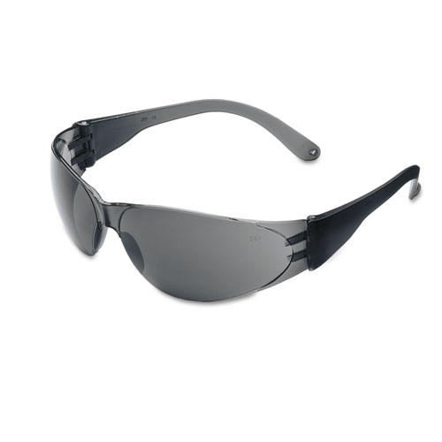 Checklite Scratch-Resistant Safety Glasses, Gray Lens | by Plexsupply