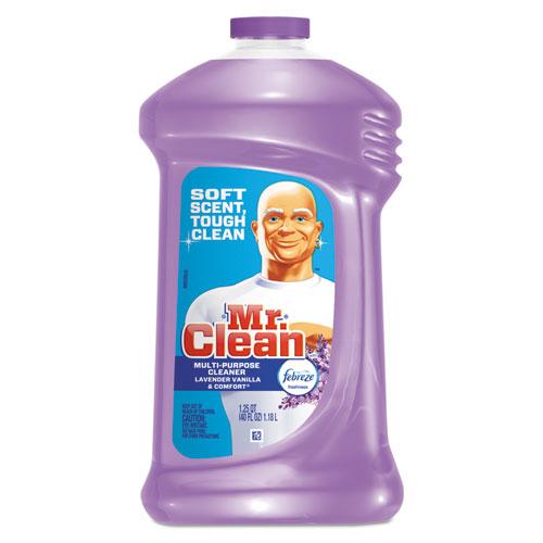 Mr. Clean® Multipurpose Cleaning Solution w/Febreze,40oz, Lavender Vanilla Comfort,9/CT