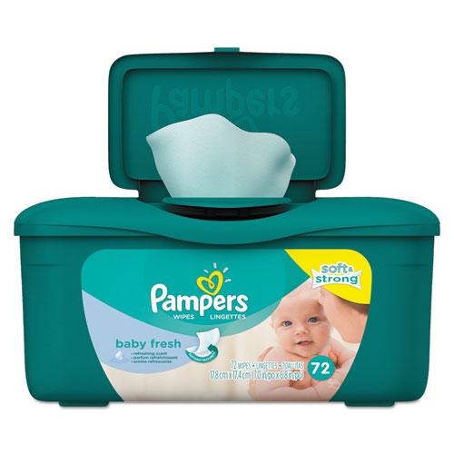 Baby Fresh Wipes, Baby Fresh Scent, White, Cotton, 72/Tub, 8 Tub/Carton