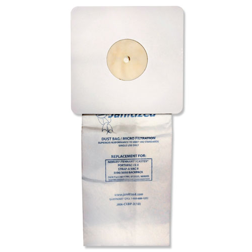 Vacuum Filter Bags Designed to Fit Nobles Portapac/Tennant, 100/CT