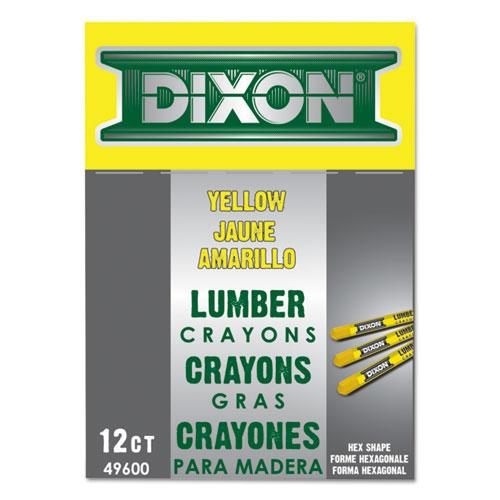 Dixon® Lumber Crayons, 4 1/2 x 1/2, Carbon Black, Dozen