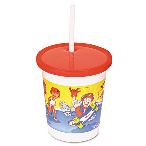 Kids Cups, Polypropylene, Cold, 13 1/6oz, White, Outdoor Sports Print, 500/CT 950709001