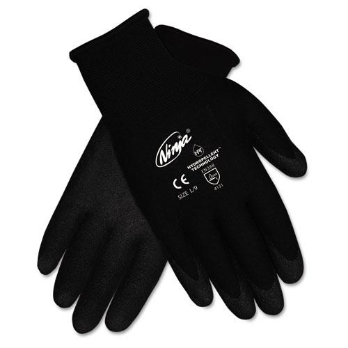 Ninja HPT PVC coated Nylon Gloves, Small, Black, Pair | by Plexsupply