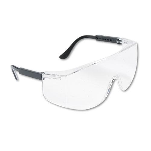 Tacoma Wraparound Safety Glasses, Black Plastic Frame, Clear Lens - JAD