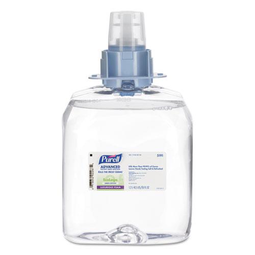 Advanced Green Certified Instant Hand Sanitizer Foam, 1200mL FMX Refill, 3/Ctn