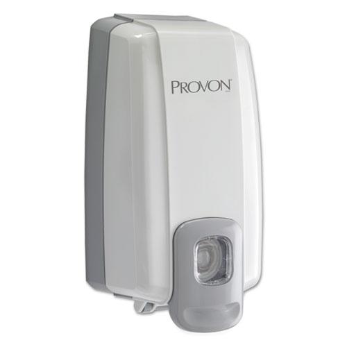 """PROVON® NXT SPACE SAVER Dispenser, 1 L Refill, 5.13 x 4"""" x 10.13"""", Dove Gray"""