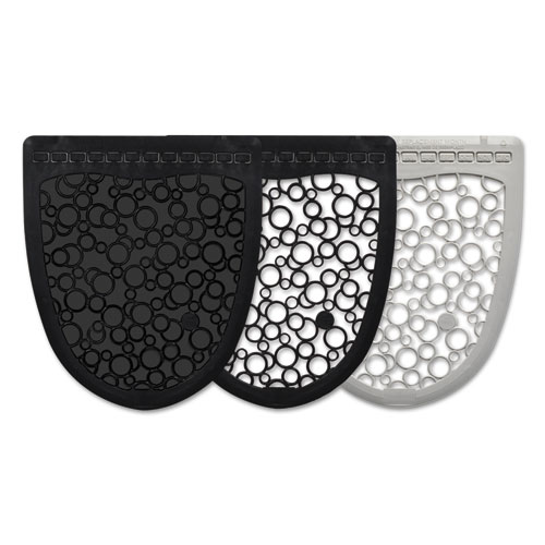 Boardwalk® Urinal Mat 2.0, Rubber, 17 1/2 x 20, Black/Black, 6/Carton