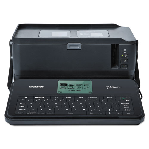 PT-D800W Commercial/Lite Industrial Portable Label Maker, 60 mm/s Print Speed, 12.25 x 7.5 x 6.12