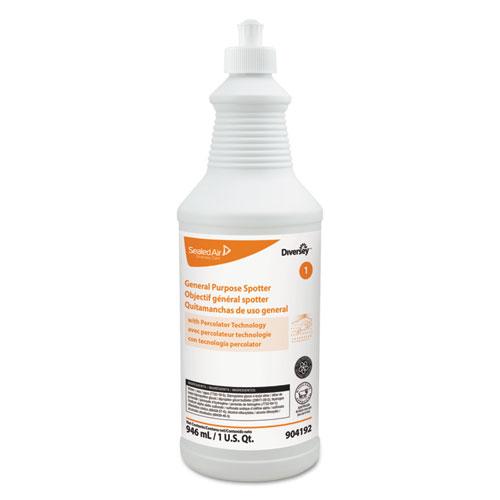 Diversey™ General Purpose Spotter, Floral Scent, Liquid, 1 qt. Squeeze Bottle, 6/Carton