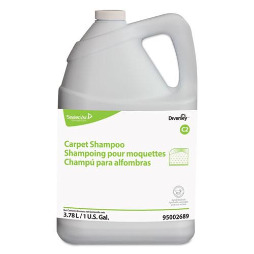 Diversey™ Carpet Shampoo, Floral, 1gal Bottle, 4/Carton
