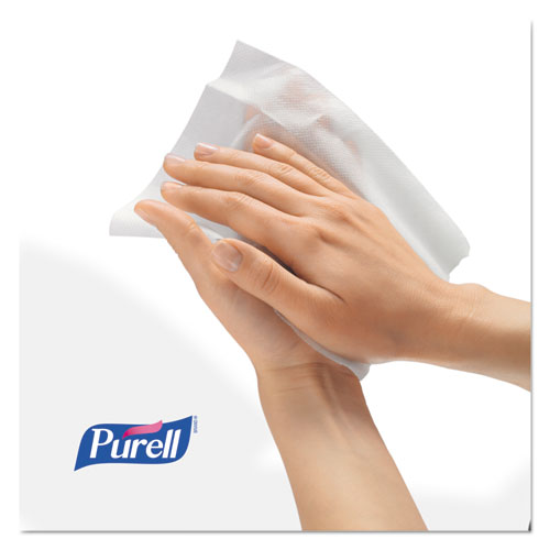 Sanitizing Hand Wipes, 6 x 6 3/4, White, 270/Canister, 6 Canisters/Carton