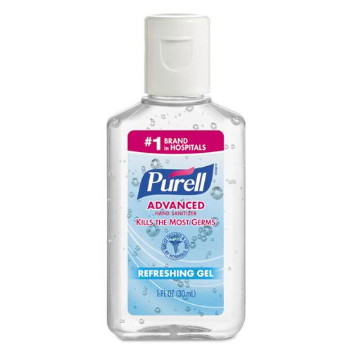 PURELL® Advanced Hand Sanitizer Refreshing Gel, Clean Scent, 1 oz Bottle, 250/Carton