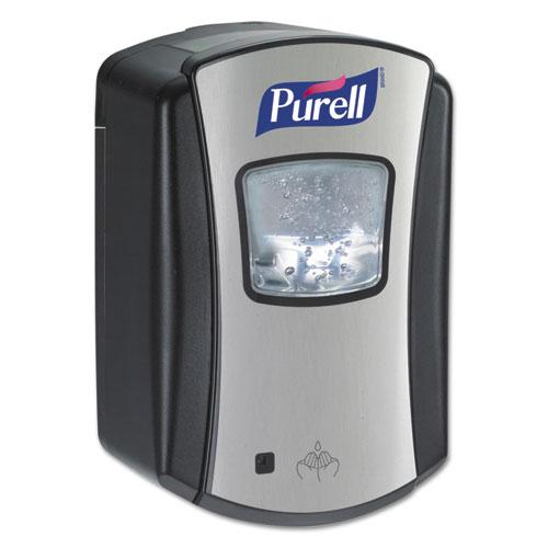 LTX-7 Dispenser, 700mL, Chrome/Black, 4/Carton