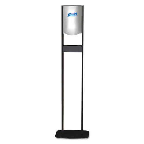Elite LTX Floor Stand Dispenser Station, 1200 mL, 15.25 x 9.86 x 58.1, Chrome/Black
