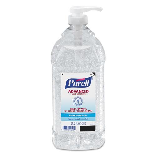 PURELL® Advanced Refreshing Gel Hand Sanitizer, Clean Scent, 2 L Pump Bottle