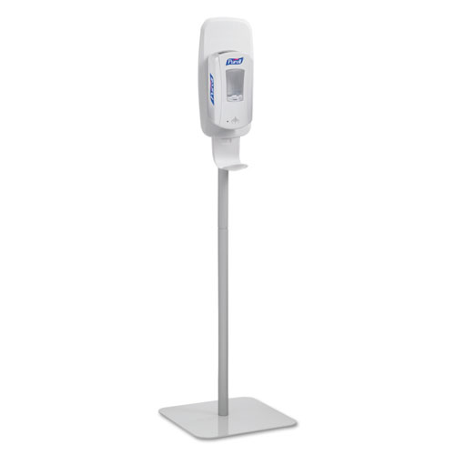 PURELL® LTX or TFX Touch-Free Dispenser Floor Stand, Lt Gray, 23 3/4 x 16 3/5 x 5 29/100