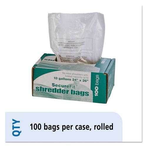 8105015574975, Medium-Duty Shredder Bags, 10 gal Capacity, 100/BX
